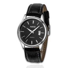 Đồng hồ nam dây da Nary 61KN15 (Đen)