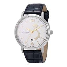 Đồng hồ nam dây da Romanson 4259SW (Đen)