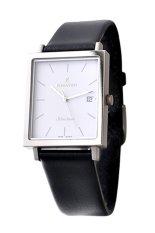Đồng hồ nam dây da Romanson DL2133NMWWH (Đen)