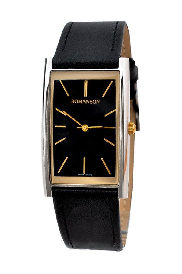 Đồng hồ nam dây da Romanson DL2158CMCBK (Đen)