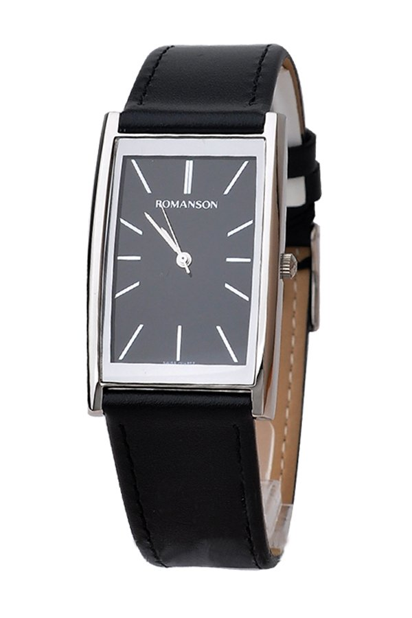 Đồng hồ nam dây da Romanson DL2158CMWBK (Đen)