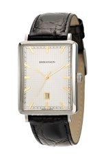Đồng hồ nam dây da Romanson DL5163NMCWH (Đen)