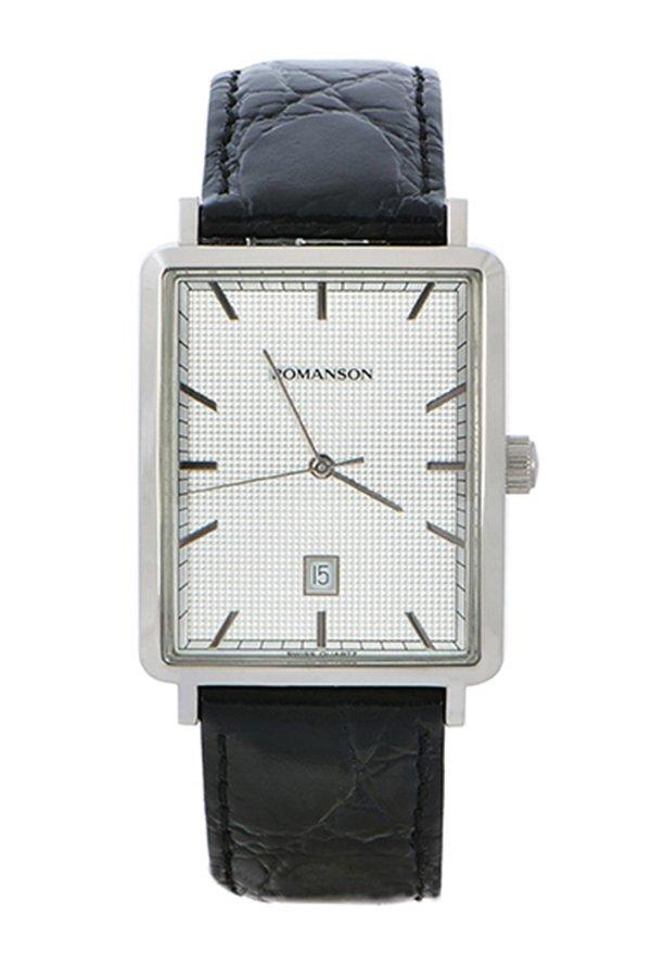 Đồng hồ nam dây da Romanson DL5163NMWWH (Đen)