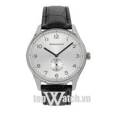 Đồng hồ nam dây da ROMANSON TL0329MWWH (Mặt Trắng)