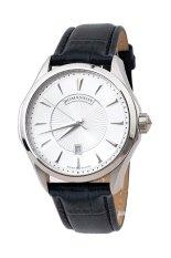 Đồng hồ nam dây da Romanson TL0337MWWH (Đen)