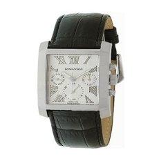 Đồng hồ nam dây da Romanson TL0342BMWWH (Đen)