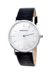 Đồng hồ nam dây da Romanson TL0387MWWH (Đen)