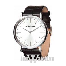 Đồng hồ nam dây da ROMANSON TL0387MWWH (Mặt Trắng)