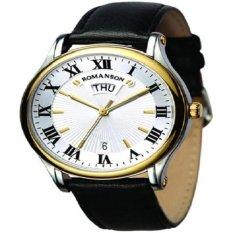 Đồng hồ nam dây da Romanson TL0393MCWH (Đen)