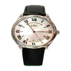 Đồng hồ nam dây da Romanson TL0393MWWH (Đen)