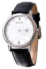 Đồng hồ nam dây da Romanson TL1213MWWH (Đen)