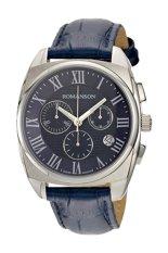 Đồng hồ nam dây da Romanson TL1262HMWBLUE (Xanh)