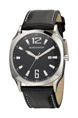 Đồng hồ nam dây da Romanson TL1271MWBK (Đen)