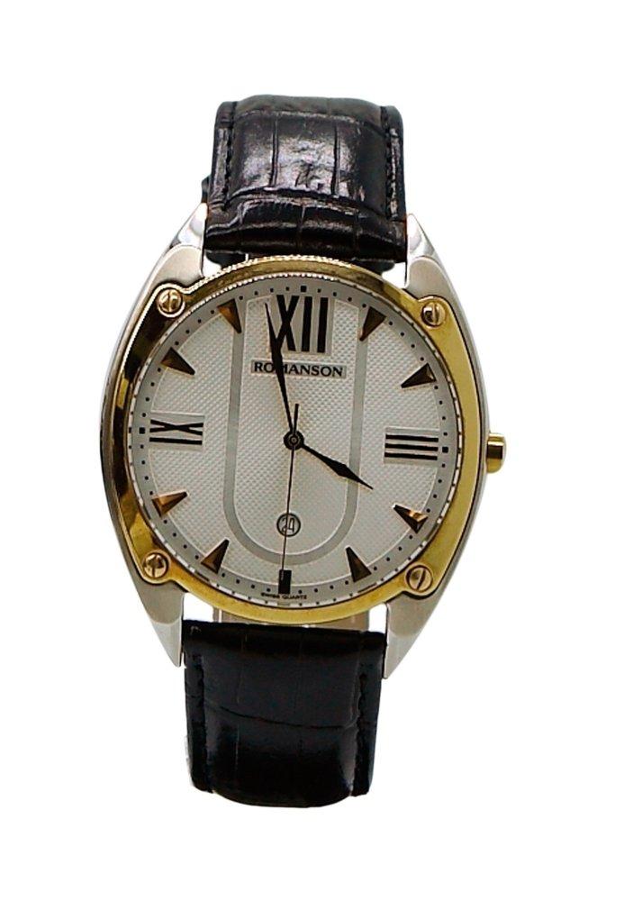 Đồng hồ nam dây da Romanson TL1272MCWH (Đen)