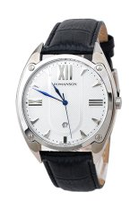 Đồng hồ nam dây da Romanson TL1272MWWH (Đen)