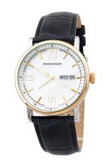 Đồng hồ nam dây da Romanson TL1275MCWH (Đen)