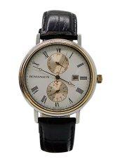 Đồng hồ Nam dây da Romanson TL1276BMCWH (Đen)