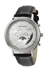 Đồng hồ nam dây da Romanson TL1276HMWWH (Đen)