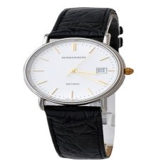 Đồng hồ nam dây da Romanson TL2626MCWH (Đen)
