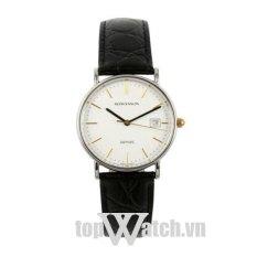 Đồng hồ nam dây da ROMANSON TL2626MCWH (Mặt Trắng)
