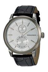 Đồng hồ nam dây da Romanson TL2647BMWWH (Đen)