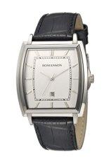 Đồng hồ nam dây da Romanson TL4202MWWH (Đen)