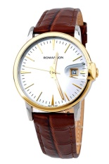 Đồng hồ nam dây da Romanson TL4227MCWH (Nâu)