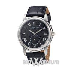 Đồng hồ nam dây da ROMANSON TL4255JMWBK (Mặt Đen)