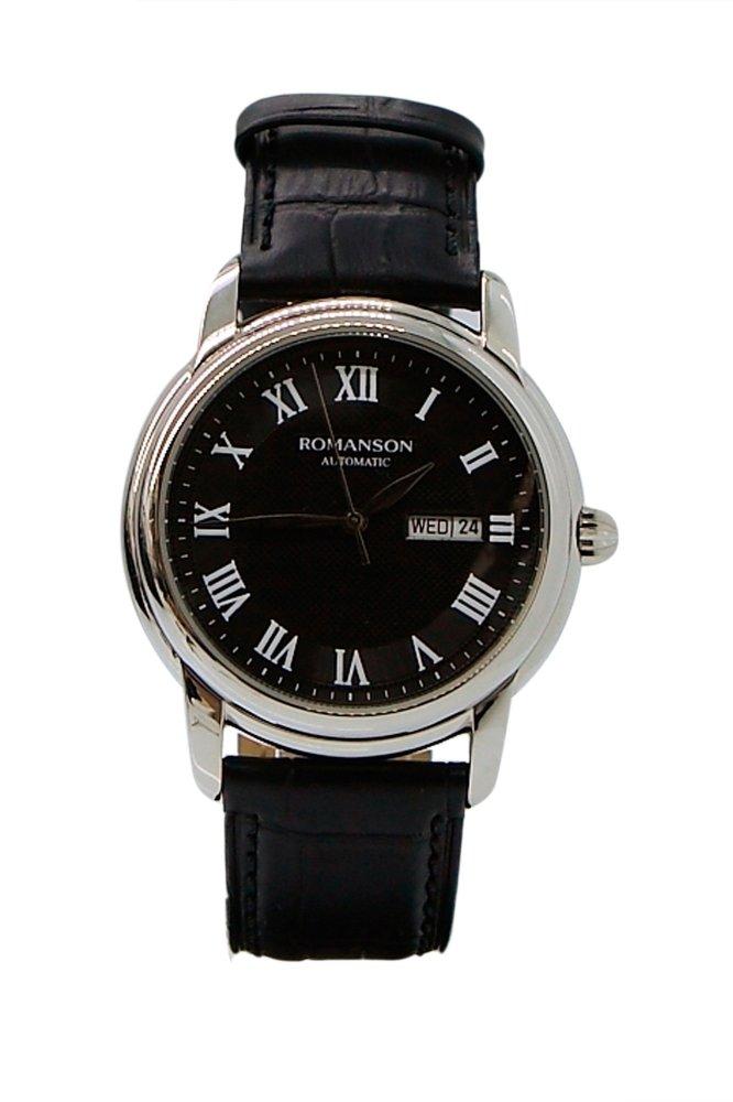 Đồng hồ Nam dây da Romanson TL4255RMWBK (Đen)