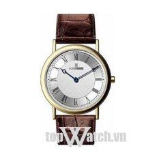 Đồng hồ nam dây da ROMANSON TL5110MCWH (Mặt Trắng)