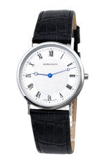 Đồng hồ nam dây da Romanson TL5110MWWH (Đen)