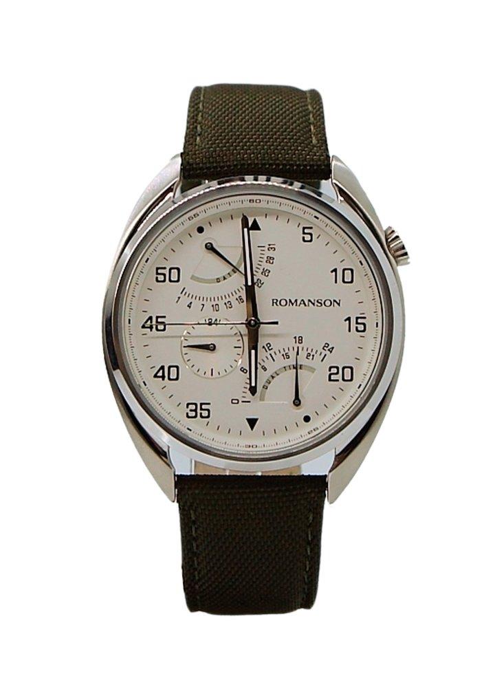 Đồng hồ Nam dây da Romanson TL5A01FMWWH (Xanh Rêu)