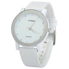 Đồng hồ nam dây da Sinobi 98KN1 (Trắng)