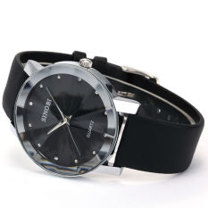 Đồng hồ nam dây da SINOBI S981G (Đen)