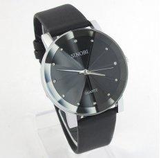Đồng hồ nam dây da Sinobi SINO1235 (Đen)