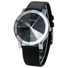Đồng hồ nam dây da Sinobi TP014 (Đen)