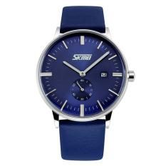 Đồng hồ nam dây da SK042 SKMEi (xanh)
