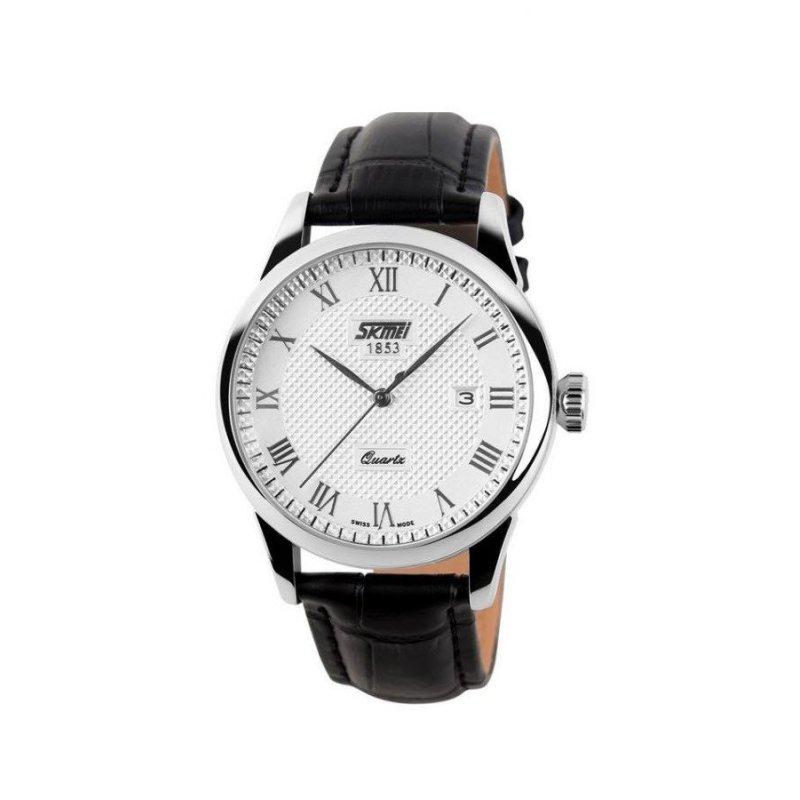 Nơi bán Đồng hồ nam dây da Skmei 9058 (Đen)