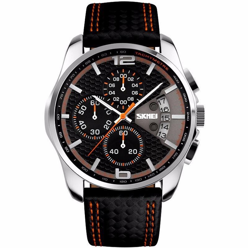 Đồng hồ nam dây da SKMEI 9106 DHSK9107A
