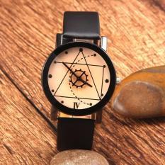 Đồng hồ nam dây da Thạch Anh Tam Giác TimeZone (Dây Đen, Mặt Xám)