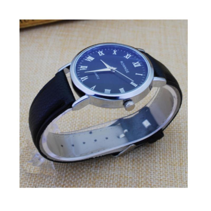 Nơi bán Đồng hồ nam dây da thời trang PA271 (Dây đen mặt xanh)