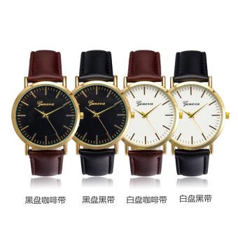 Đồng hồ nam dây da tổng hợp Geneva GE021-3 (Đen) - 2