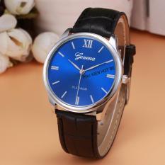 Đồng hồ nam dây da tổng hợp Geneva PKHRGE028-1 (Đen mặt xanh)