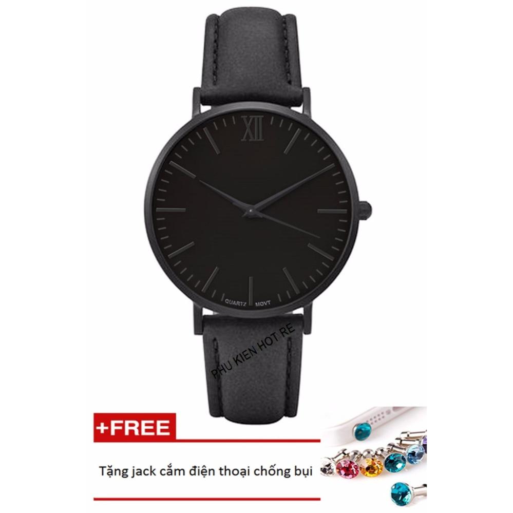 Cách mua Đồng hồ nam dây da tổng hợp Geneva PKHRGE045-1 (đen)+ Tặng 1 jack chống bụi cho điện thoại