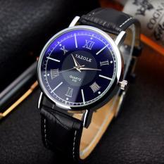 Đồng hồ nam dây da Yazole 313 hiện đại , phong cách