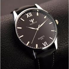 Đồng hồ nam dây da Yazole 318 (Đen)
