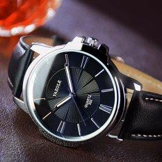 Đồng hồ nam dây da yazole 332 (Đen)
