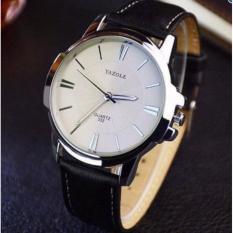 Đồng hồ Nam dây da Yazole 332 – Đen mặt trắng
