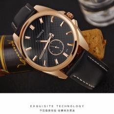 Đồng hồ nam dây da Yazole 356 phong cách Châu Âu