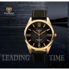 Đồng hồ nam dây da Yazole mẫu 370